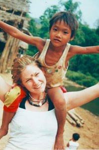 Me and these amazing kids in Northern Thailand 2003
