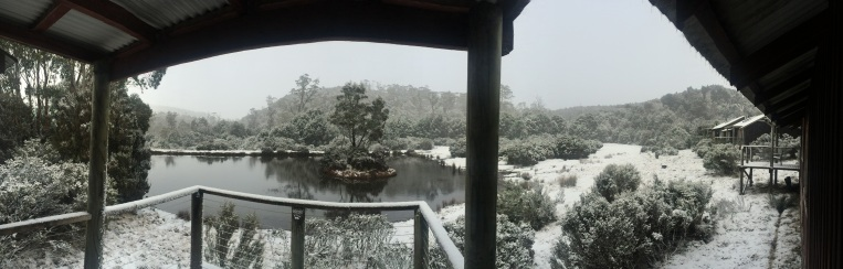 Peppers Cradle Mountain Lodge the morning after the blizzard