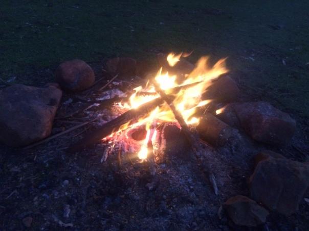 My kick-a** campfire :)